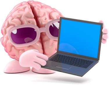 brain with laptop-375