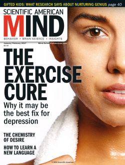 Scientific American Mind cover January February 2017